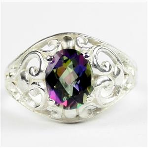 Mystic Fire Topaz, 925 Sterling Silver Ladies Ring, SR111
