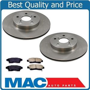 1996-2000 Toyota Rav4 (2) Front Brake Rotors & Ceramic Pads