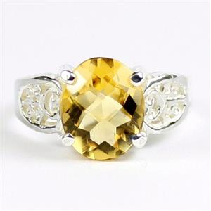 Citrine, 925 Sterling Silver Ladies Ring, SR369