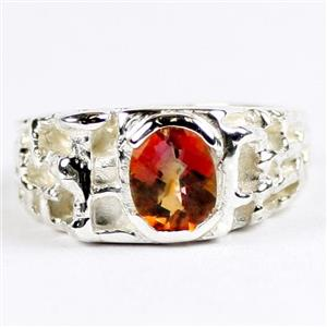 SR197, Twilight Fire Topaz, 925 Sterling Silver Men's Ring