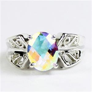 Mercury Mist Topaz, 925 Sterling Silver Ladies Ring, SR281