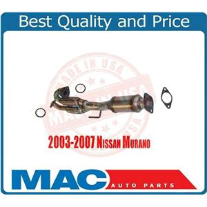 Catalytic Converter Exhaust Rear Eng Y Pipe With Flex For 03-07 Nissan Murano