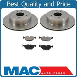92-95 BMW 325i / Also 325is 323is 328i 328ic (2) Rr Brake Disc Rotors & Pads