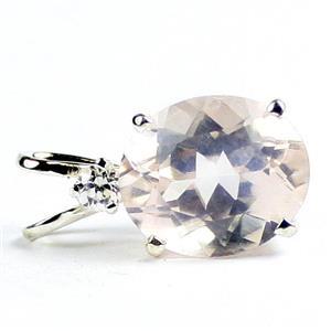 SP022, Rose Quartz, 925 Sterling Silver Pendant