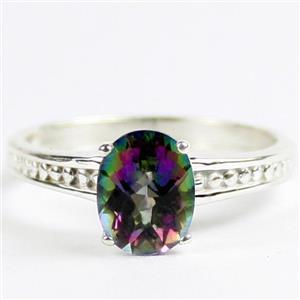 Mystic Fire Topaz, Sterling Silver Ladies Ring, SR371