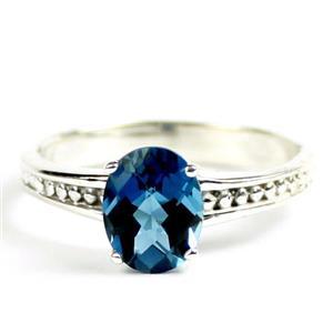 London Blue Topaz,  Sterling Silver Ladies Ring, SR371