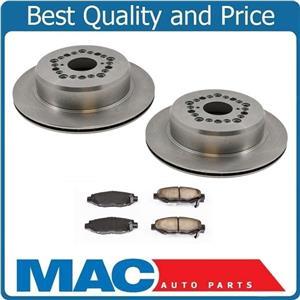 92-00 SC400 99-00 SC300 93-97 GS300 Lexus (2) Rear Disc Brake Rotor & Pads