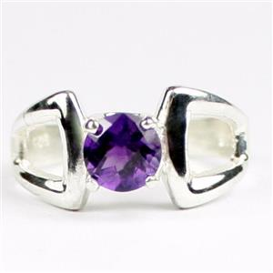 SR307, Amethyst, 925 Sterling Silver Ladies Ring
