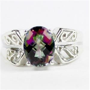 Mystic Fire Topaz, 925 Sterling Silver Ladies Ring, SR281