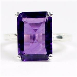 SR189, Amethyst, 925 Sterling Silver Ladies Ring