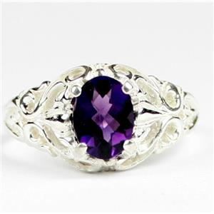 Amethyst, 925 Sterling Silver Ladies Ring, SR113