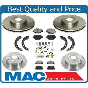 2005-2010 Scion TC Front & Rear Brake Rotors and Ceramic Brake Pads Shoes 5Pc