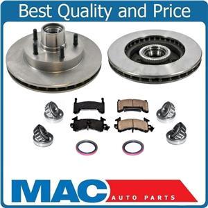 Front Wheel Bearings Brake Rotors for GMC S10 Pick Up ABS Rear Wheel Drive 91-03