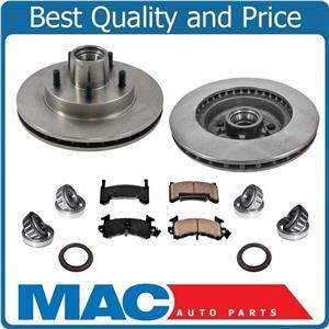 Front Disc Brake Rotors & CERAMIC Pads Wheel Bearings Seals For 82-92 Camaro