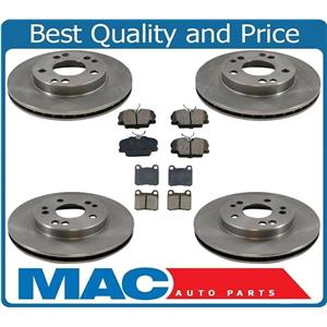 88-93 190E Without Skid Control Frt & Rr Rotors & Disc Brake Pads 6Pc Kit