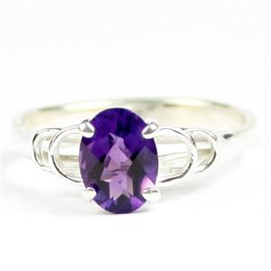 SR300, Amethyst, 925 Sterling Silver Ladies Ring