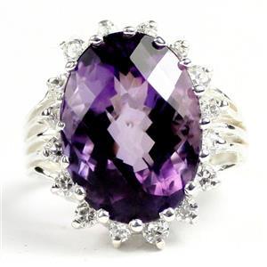 SR270, Amethyst, 925 Sterling Silver Ladies Ring