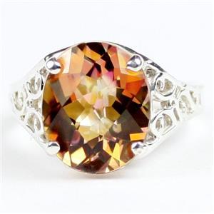 SR057, Twilight Fire Topaz, 925 Sterling Silver Ring