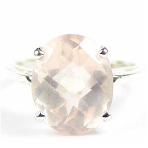 Rose Quartz, 925 Sterling Silver Ladies Ring, SR055