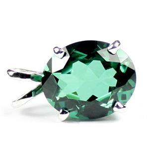 SP040, Russian Nanocrystal Emerald, 925 Sterling Silver Pendant