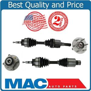 2 100% New  Front CV Axle Shafts + Hub Bearings for 07-10 Expedition 4Pc