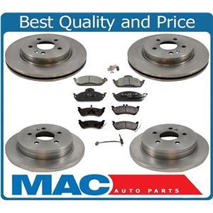 100% New Frt & Rr Disc Rotors Ceramic Pads Sensors For Mercedes 98-03 ML320 8pc