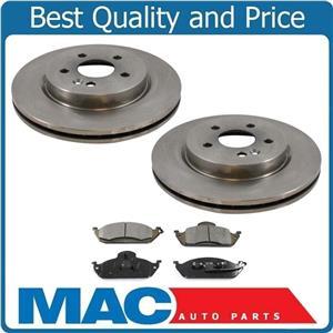 98-03 ML320 98 99 ML430 03-05 ML350  Mercedes 2 Frt Brake Rotors & Ceramic Pads