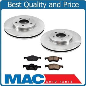 Fits 08 To 06/29/10 Ford Escapte Front Disc Brake Rotors Models W/ Rear Drum