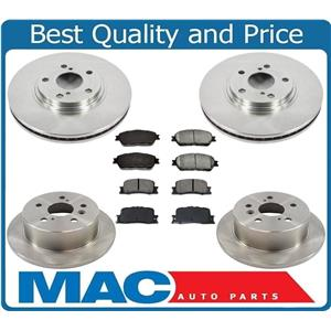 Fits For 2005-2007 Toyota Avalon Front & Rear Brake Rotors and Ceramic Pads