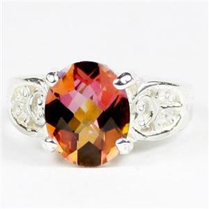 Twilight Fire Topaz, 925 Sterling Silver Ladies Ring, SR369