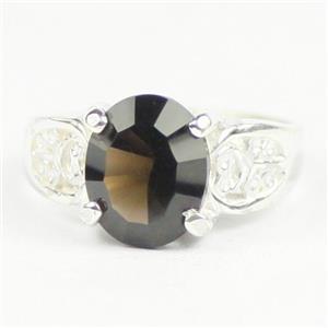 Smoky Quartz, 925 Sterling Silver Ladies Ring, SR369