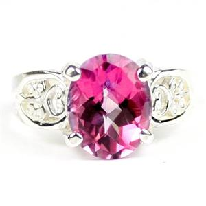 Pure Pink Topaz, 925 Sterling Silver Ladies Ring, SR369