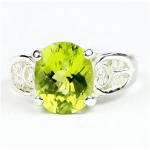 Peridot, 925 Sterling Silver Ladies Ring, SR369