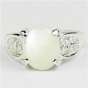 Mother of Pearl, 925 Sterling Silver Ladies Ring, SR369