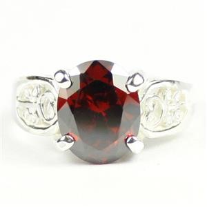 Garnet CZ, 925 Sterling Silver Ladies Ring, SR369