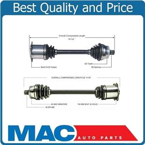 2 CV AXLE SHAFTS For 2004-2009 Audi S4 4.2L With Automatic Transmission