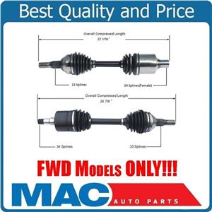 (2) 100% New  IMPALA 2000-2011 100% New New Front Left and Right CV Shaft Axles