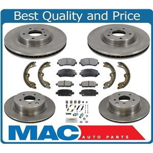 100% New F&R Brake Disc Rotors & Ceramic Pads for Nissan Maxima 09-2018 8pc Kit