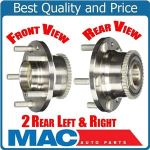 (2) 100% New 00-06 MPV Van Protege W/ R Disc REAR Axle and Hub Assembly REAR
