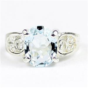Aquamarine, 925 Sterling Silver Ladies Ring, SR369