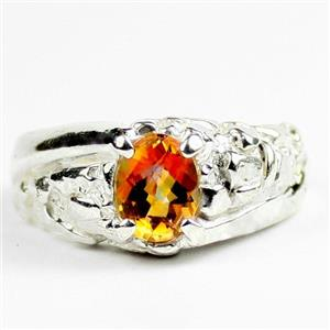 Twilight Fire Topaz, 925 Sterling Silver Mens Nugget Ring, SR368