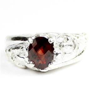 Mozambique Garnet,  925 Sterling Silver Mens Nugget Ring, SR368