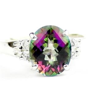 Mystic Fire Topaz, 925 Sterling Silver Ring, SR123