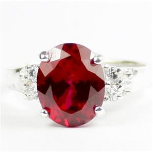 Created Ruby, 925 Sterling Silver Ring, SR123