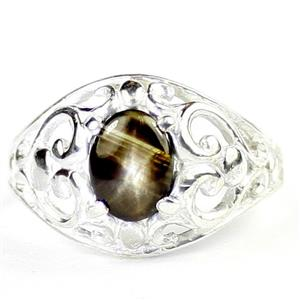 Black Star Sapphire, 925 sterling Silver Ladies Ring, SR111
