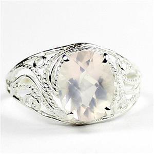 Rose Quartz, 925 Sterling Silver Ladies Ring, SR083