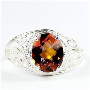 Twiight Fire Topaz, 925 Sterling Silver Ladies Ring, SR083