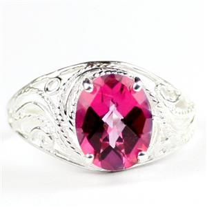 Pure Pink Topaz, 925 Sterling Silver Ladies Ring, SR083