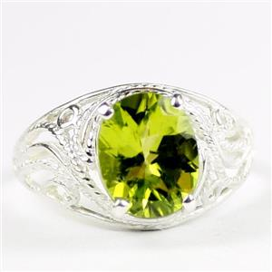 Peridot,  925 Sterling Silver Ladies Ring, SR083
