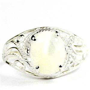 Mother of Pearl,  925 Sterling Silver Ladies Ring, SR083